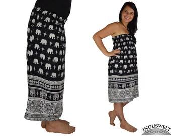 2in1 Dress Skirt black Elefant