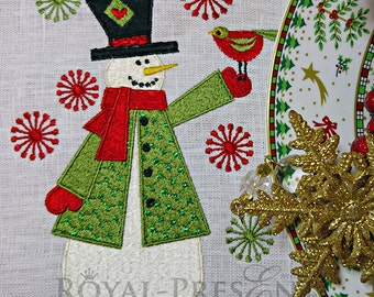 Machine Embroidery Design Snowman - 3 sizes