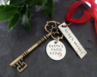 Santa's Magic key ,Santa key,  magic key, Father Christmas ,Santa Claus, Christmas Eve, Kids magic key, Christmas tree decoration,