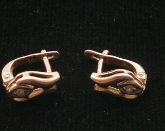 Vintage 14 K Solid Gold Earrings