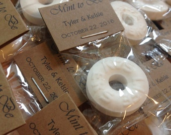 Mint to Be Personalized Wedding Favors - Individually wrapped favors