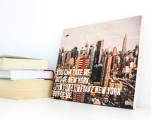 New York Wall Art, New York Print, New York Sign, New York Wooden Sign, New York Skyline Sign, Wooden Sign,  New York Gift Idea, New York