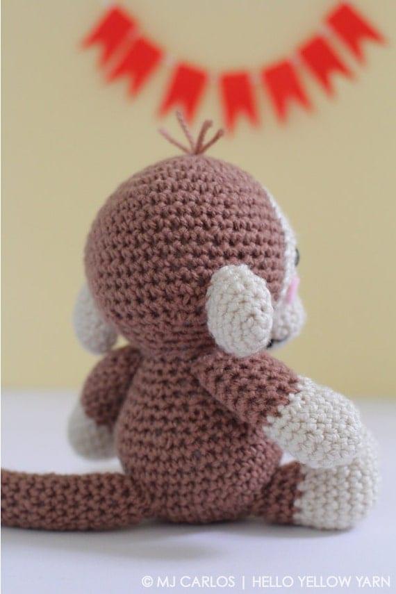 Close Amigurumi Ball : Crochet Amigurumi Baby Monkey PATTERN ONLY Momo Baby Monkey