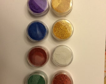 Holiday Sample Pack Mica Colorant Dye For Soaps and Cosmetics, Lot of 8