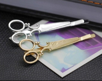 Gold or silver scissor hair Clips bobby pins - salon stylist cosmetology seamstress sew quilt