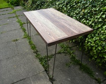 Rustic Reclaimed Dining Table - Customise - Hairpin legs - your choice of stain, chalk paint, size and height