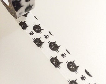 Cat Washi Tape - Faces and Paw Prints