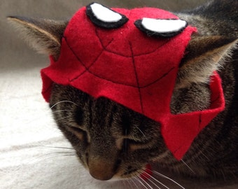 Spiderman Hat for Cats