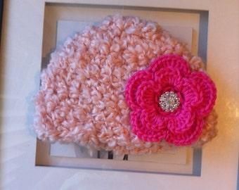 Fluffly baby beanie, baby hat, baby crochet beanie