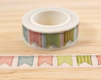 Masking tape flags, Washi tape, adhesive tape, decorative tape, scrapbooking