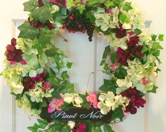 Grapevine Wreath, Kitchen Wreath, Bar Wreath, Wine Wreath, Wine Lover's Wreath, Gift for the Wine Lover, Housewarming Gift