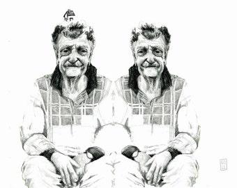 Kurt Vonnegut Illustration