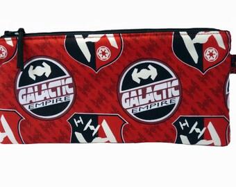 Star Wars Galactic Empire Makeup Bag, Gadget Bag, Pencil Case, Handmade in the UK