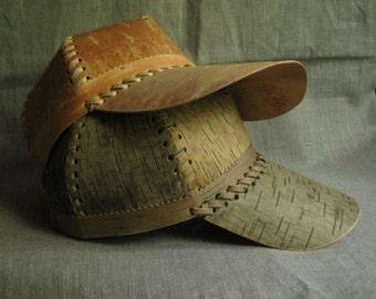 Baseball cap from birch bark.