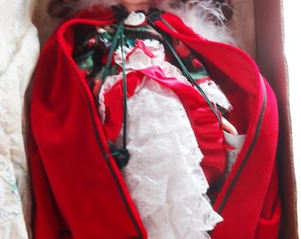 Robin Woods 1989 Christmas Doll Elizabeth St. John Vinyl Beautiful MINT
