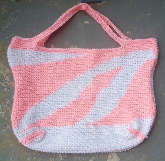 Zebra Print XL Tote crochet pattern crochet purse crochet