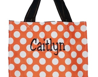 Personalized Fabric Halloween Bag Trick or Treat Tote Storage