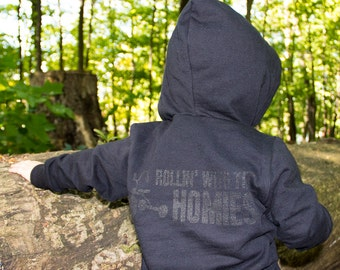 Rollin With The Homies - Hoodie, Black, Tone on Tone, Sweatshirt, Rollin, Homies, Kids Clothing