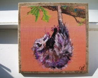 Opossum NoZoo Art Tile