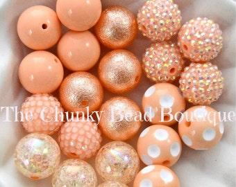 20mm peach bead assortment