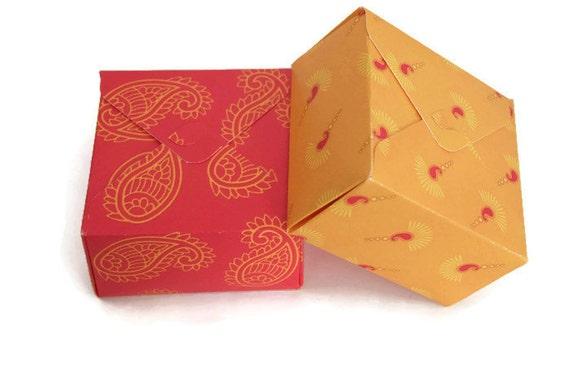 Indian Wedding Gift Box : Square box, Indian wedding favor, gift box, diwali gift box, paisley ...