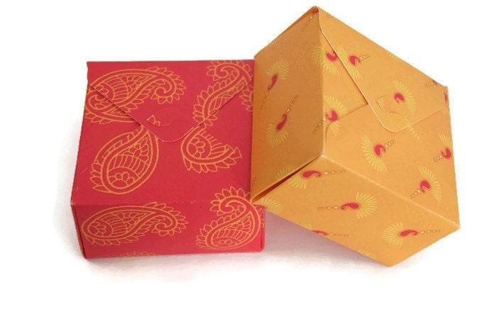 Square box Indian wedding favor gift box diwali gift box