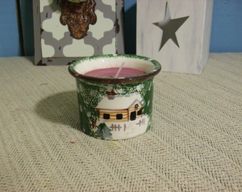 OOAK - Holiday Sweets Scented Soy Jar Candle