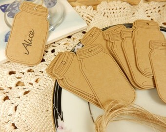 Wish Bottle Luggage Tags, Pack of 25, Kraft Gift Tags, Scrapbooking Paper, Crafts, Wedding Place Cards, Rustic Wedding