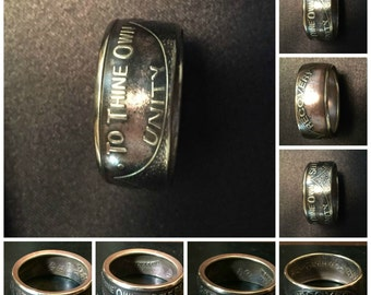 AA Sobriety Coin Ring