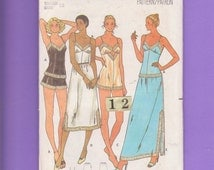 Butterick 6361 Size 12 Easy Half Slip, V neck Camisole, Teddy, Pantie, Lingerie Sewing pattern// Baby Doll Nightie Pajama, Negligee. Bust 34