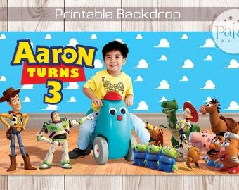 Toy Story Backdrop Banner with Photo