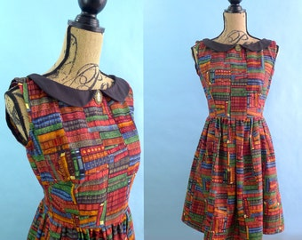 Book Print Library Dress