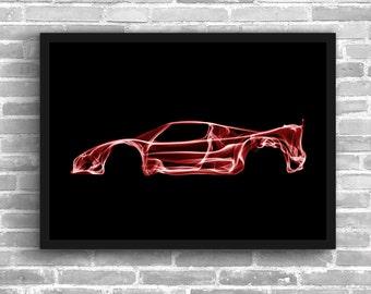 Ferrari F50 Art Wall Art Classic Car Man Cave Gift For Him Automotive Art Car Art Home Decor Ferrari F50 Décor Ferrari  poster Ferrari Print