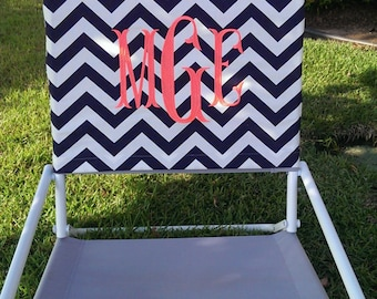 Navy Chevron Beach Chair Slip Cover