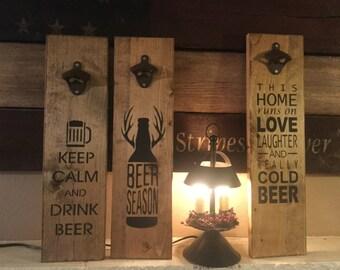Wood Beer Opener Sign