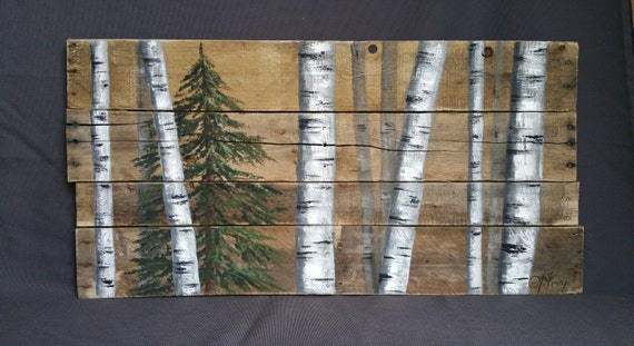 Handpainted christmas gift reclaimed pallet by for White painted pallets