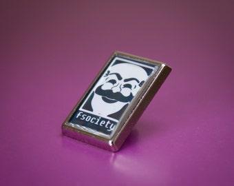 Cool Mr Robot FSociety Pin/Lapel Badge
