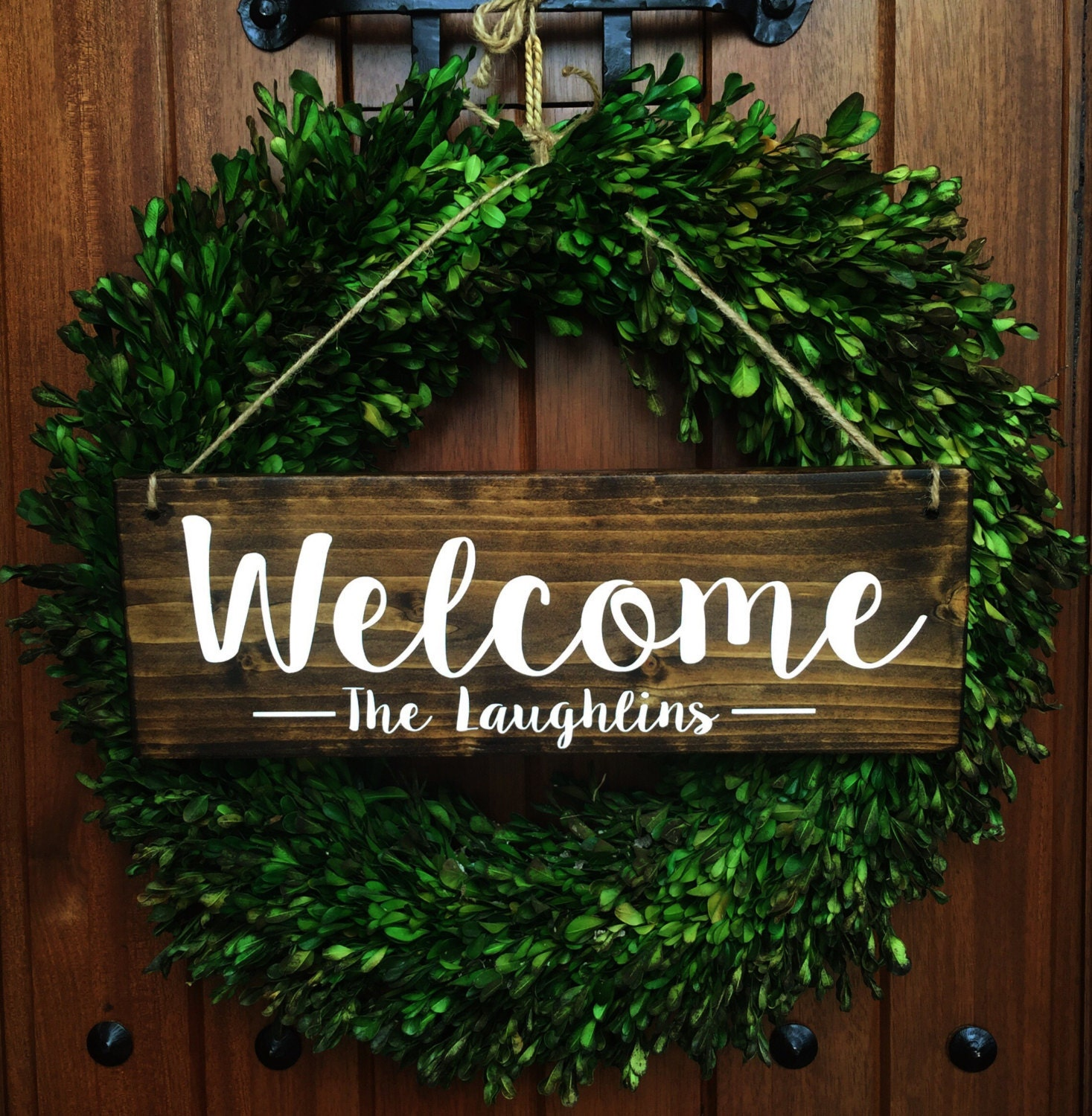 Welcome sign welcome door sign personalized sign family for Door name signs