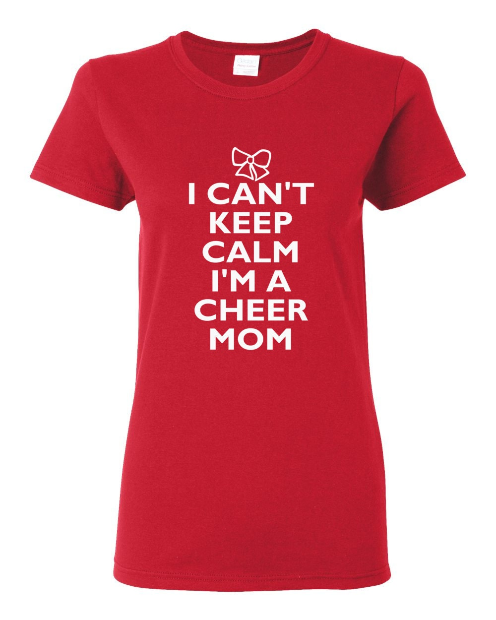 Cheer Life - I Can't Keep Calm I'm A Cheer Mom Womens T-Shirt