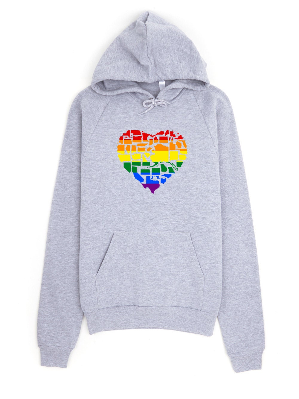 Gay Pride Sweatshirt - Marriage Equality Gay Pride in All 50 States Gay Pride Hoodie