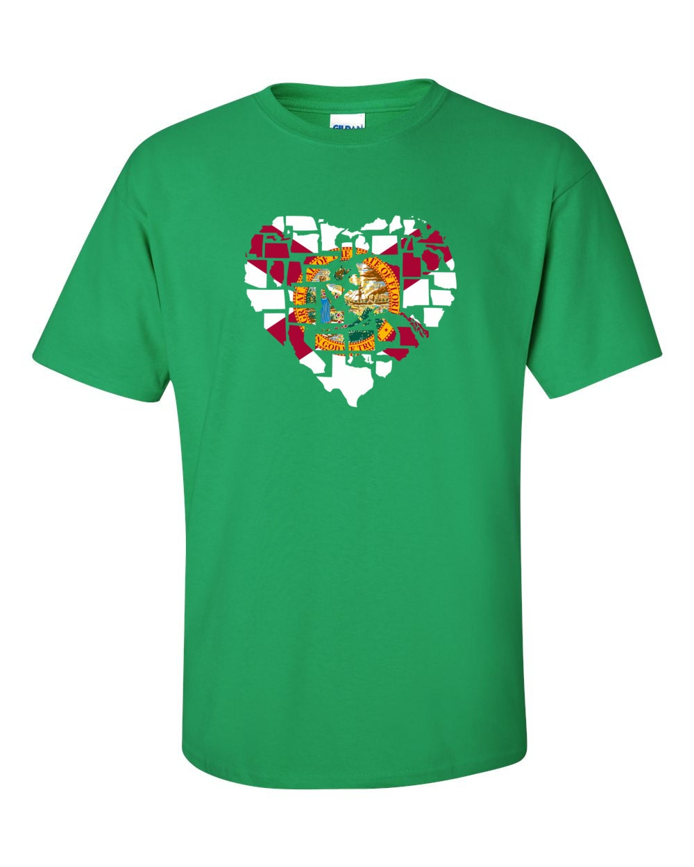 Florida T-shirt - No Matter Where I Am, Florida Is Alway In My Heart - My State Florida T-shirt