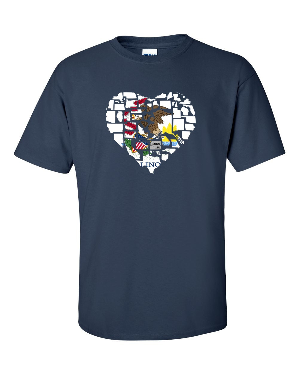 Illinois T-shirt - No Matter Where I Am, Illinois Is Alway In My Heart - My State Illinois T-shirt