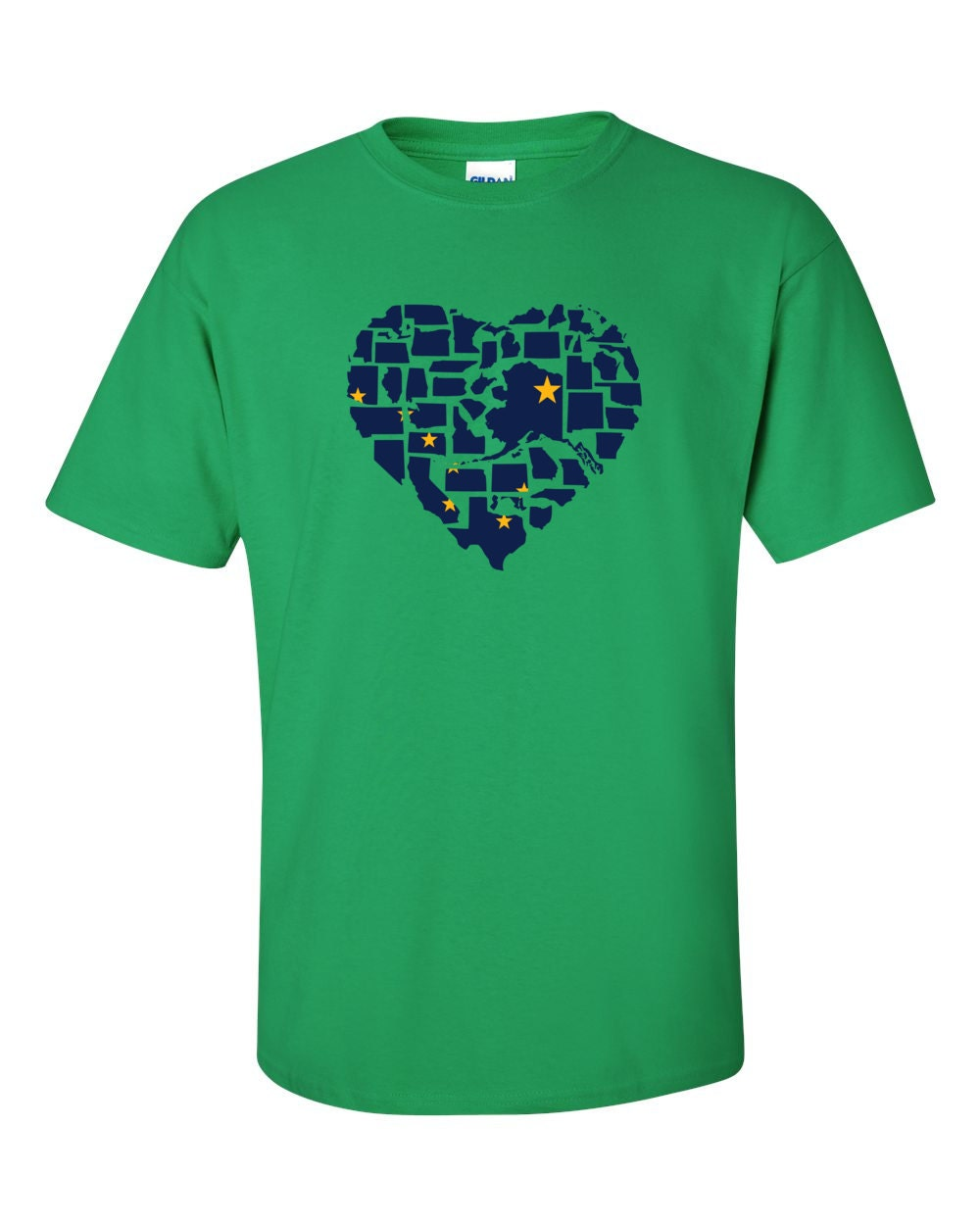 Alaska T-shirt - No Matter Where I Am, Alaska Is Alway In My Heart - My State Alaska T-shirt