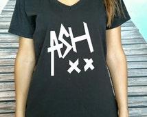 ASX XX  Women T-shirt 5 SOS  V Neck Women t-shirt  5Seconds Of Summer Tshirt  V Neck shirt