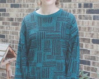 Fab Vintage Teal Sweater
