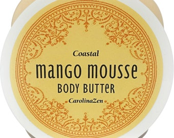 Mango Body Mousse *Coastal Collection: A silky rich souffle for hormonal dryness, overnight treatments, or NATURAL hair!  A GAME CHANGER!
