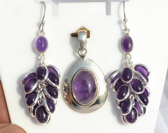 Purple Amethyst Jewelry 925 Sterling Silver Jewelry Indian jewelry/ February Birthstone jewelry
