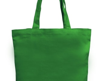 """Set of 12 Medium Green 100% Cotton Natural Canvas Totes 13x13.5x3.5"""" - Perfect for DIY Projects!"""