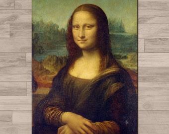 Leonardo Da Vinci print: Mona Lisa - La Gioconda. A4 - 210mm x 297mm