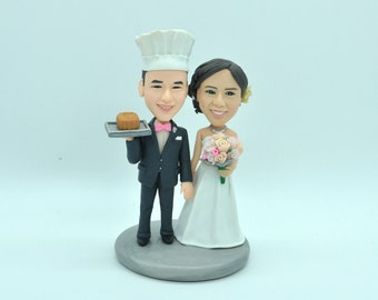 chef wedding cake toppers chef cake topper etsy 12633